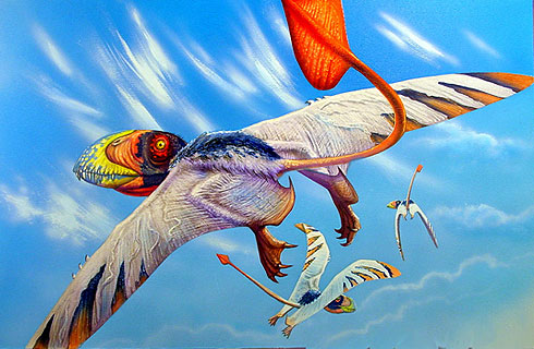 An artist's restoration of Dimorphodon