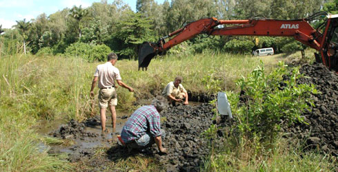 Excavations begin at Mare-aux-Songes