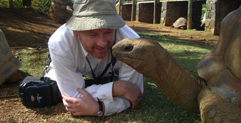 Julian and friend at La Vanille Reserve