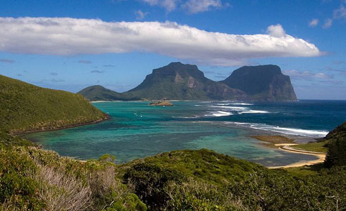 Lord Howe Island in the Tasman Sea, 600km east of the Australian mainland.