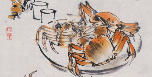 Mitten crab art from China