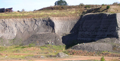 Clay pit area where Peloneustes philarchus fossil material has been collected