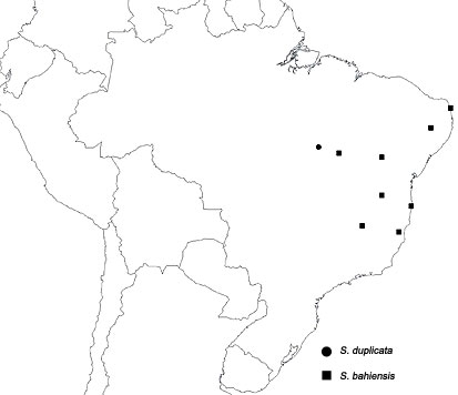 Map showing the distribution of the scolopendrid centipede Scolopendropsis in Brazil
