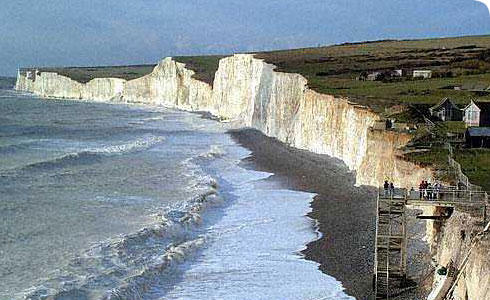 Eroding chalk cliffs