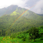 View of the Western Ghats mountains, India