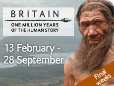 Britain: One Million Years exhibition graphic