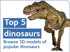 Top 5 dinosaurs - browse 3D models of popular dinosaurs