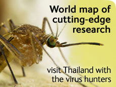World map of cutting-edge research: visit Thailand with the virus hunters