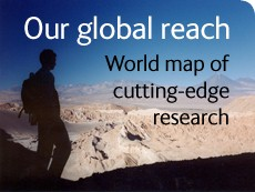 Explore out interactive map and discover some of the research that we are currently undertaking.
