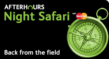 Night Safari with MasterCard - Back from the Field
