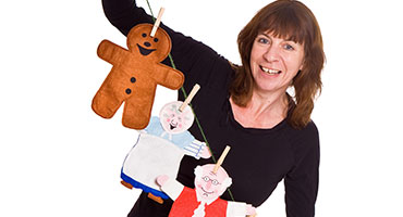 Storytelling with puppets: The Gingerbread Man and Other Stories