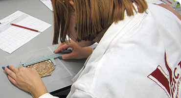 Specimen Preparation Area in action