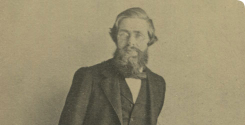 Photograph of Wallace aged about 40 years old, catalogue number WP2/1/4.