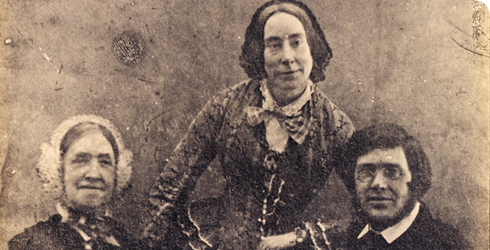 Photograph of Alfred Russel Wallace with his mother and sister circa 1840, catalogue number WP2/1/2