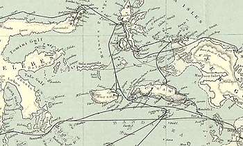 The Malay Archipelago book - map and dedication (extract)