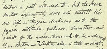 Wallace's interest in Violet's stay in Germany and views on vaccination (extract)