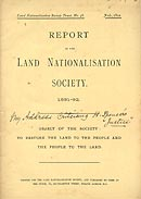 Report of the Land Nationalisation Society