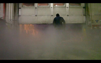 The end of our film - Lex's grand exit through the icy fog © ANTNZ, S Lillicrap