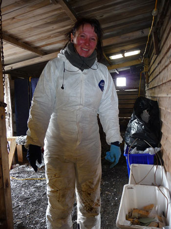 Fran looking glam in her conservation gear © Antarctic Heritage Trust