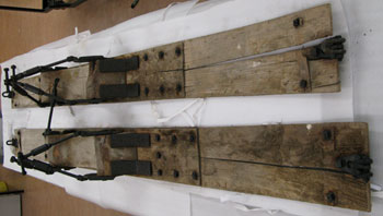 Car skis from the Arrol Johnston car © Antarctic Heritage Trust