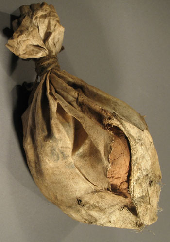 A century-old provision sack of cocoa from Captain Scott's 1910-13 expedition © Antarctic Heritage Trust