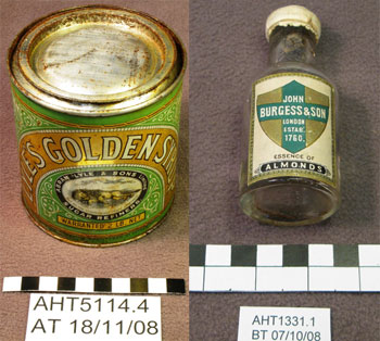 Leftover food from the explorers' huts © Antarctic Heritage Trust