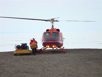 The helicopter ride © Antarctic Heritage  Trust