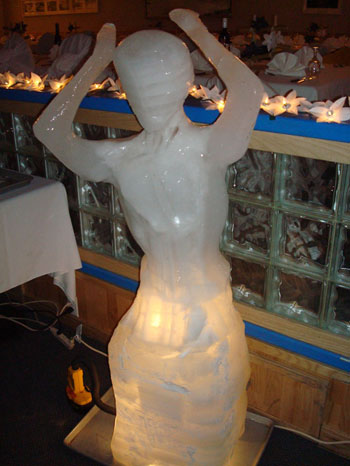 An ice sculpture made by the carpenters at McMurdo © Antarctic Heritage  Trust