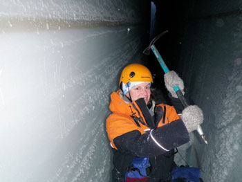Inside the crevasse © Antarctic Heritage  Trust