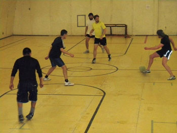 Soccer action at McMurdo Station © M. Bell