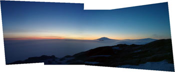 View from the top of Mount Nipha © Antarctic Heritage Trust