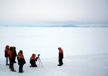 Filming on the ice © AHT / N Dunn
