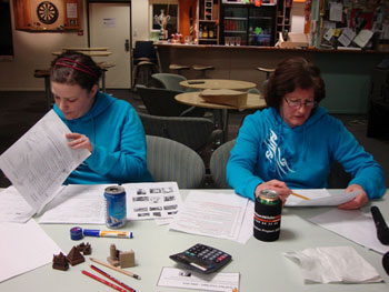 Sandy and Jane adjudicating in matching sweaters © AHT / G Whiteley