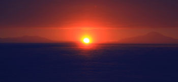 First sunset of 2010 © Antarctica New Zealand, Steven Sun