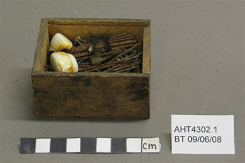 Sewing box before treatment © Antarctic Heritage  Trust