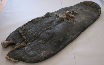 The sleeping bag after conservation © Antarctic Heritage Trust