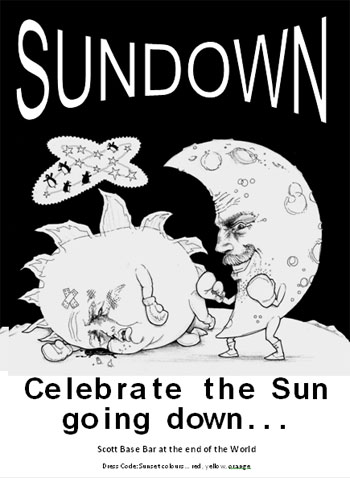 The post designed by George for our Sundown party © G Whiteley, AHT