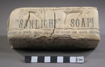 A packet of sunlight soap after cleaning © Antarctic Heritage  Trust