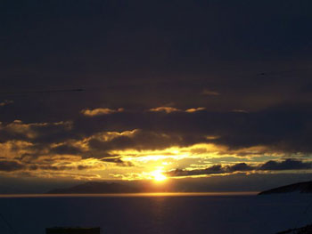 Sunset from Scott Base © Antarctic Heritage  Trust