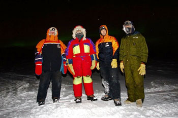 The Sea Ice Crew - Mindy, Brian, Andy and Alex © Andy Mahoney
