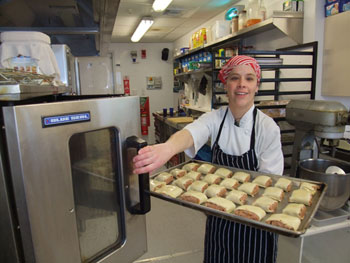 Bobbie, our chef, making sausage rolls © AHT / J Hamill