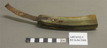 Composite tool before treatment © Antarctic Heritage  Trust