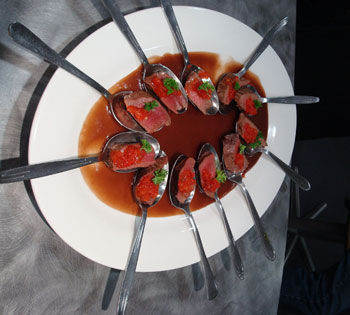 Venison with capsicum as an hors d'oeuvres © Antarctic Heritage  Trust