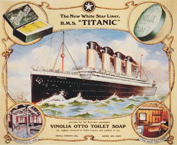 An advert for Vinolia soap © Antarctic Heritage Trust