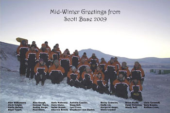 The cheerful team at Scott Base © Nathan Cross
