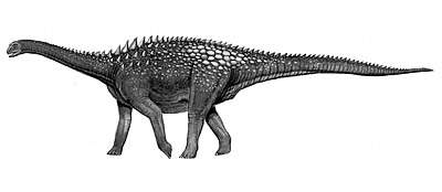 An artist's impression of Ampelosaurus