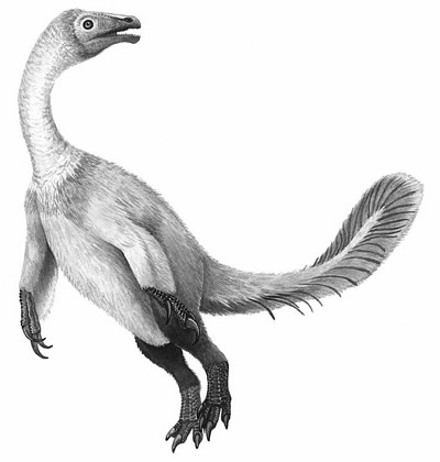 An artist's impression of Beipiaosaurus