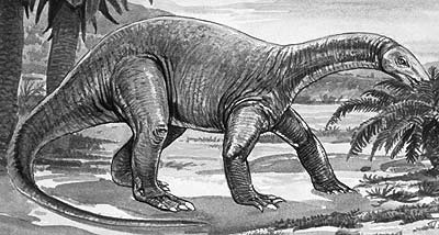 An artist's impression of Chinshakiangosaurus