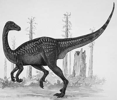An artist's impression of Erlikosaurus