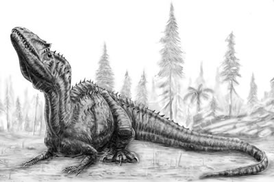 An artist's impression of Saurophaganax